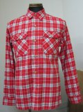 ハナレイ(Hanalei) Flannel Check L/S Work Shirts - Red