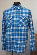ハナレイ(Hanalei) Flannel Check L/S Work Shirts - Blue
