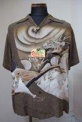 SUNSURF (サンサーフ)Dragon & Biwa Shirts S/S -Brown