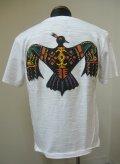 インディアン(INDIAN)ThunderBirdビーズ半袖Tシャツ-White【送料無料】