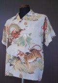 SUNSURF Fighting Dragon & Tiger Shirts S/S -Gray