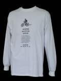 Porter Bicycle Style L/S Tee White