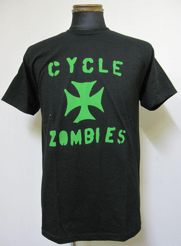 画像1: CycleZombiesサイクルゾンビーズIRON CROSS 半袖TEEシャツ-BLACK