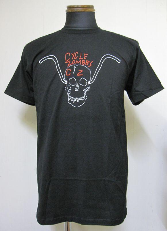 画像1: CycleZombiesサイクルゾンビーズBARS 半袖TEEシャツ-BLACK