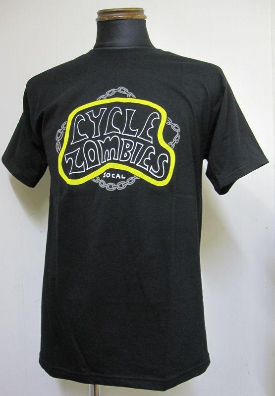 画像1: CycleZombiesサイクルゾンビーズCHAINS 半袖TEEシャツ-BLACK