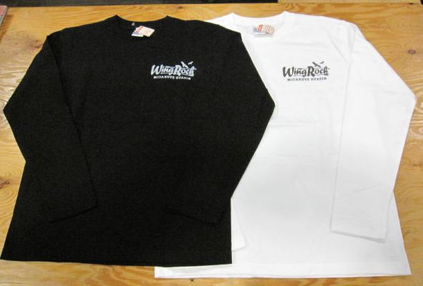 画像1: ウイングロック(Wingrock) ワンポイント・カヌーバックプリント長袖LONGSLEEVE TEEシャツ