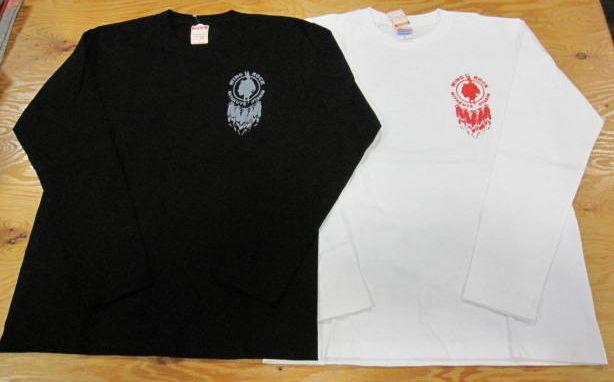 画像1: ウイングロック(Wingrock) ワンポイント・フェザーバックプリント長袖LONGSLEEVE TEEシャツ