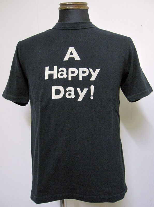 画像1: UES(ウエス)A HAPPY DAY!ハッピーデイ半袖Tシャツ651410-ブラック