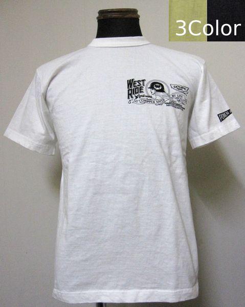 画像1: ウエストライド(WESTRIDE)16-01CHOPPER SAVED MY LIFE半袖Tシャツ