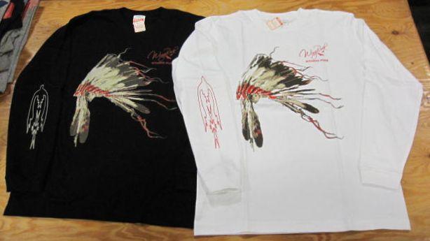 画像1: ウイングロック(Wingrock) ヘッドレス・プリント長袖リブLONGSLEEVE TEEシャツ