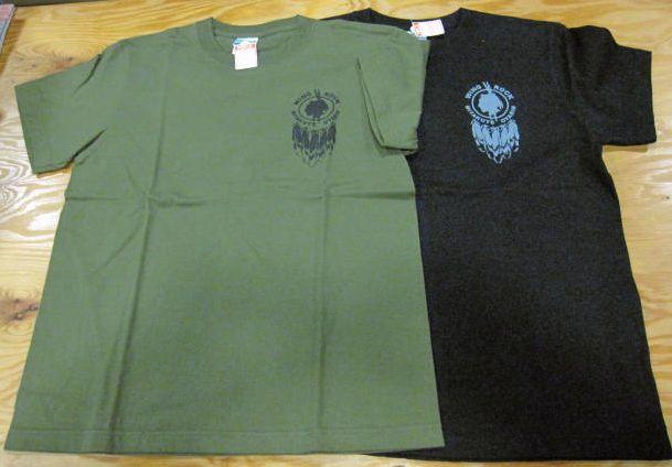 画像1: ウイングロック(Wingrock) ワンポイント・バックフェザープリント半袖TEEシャツ
