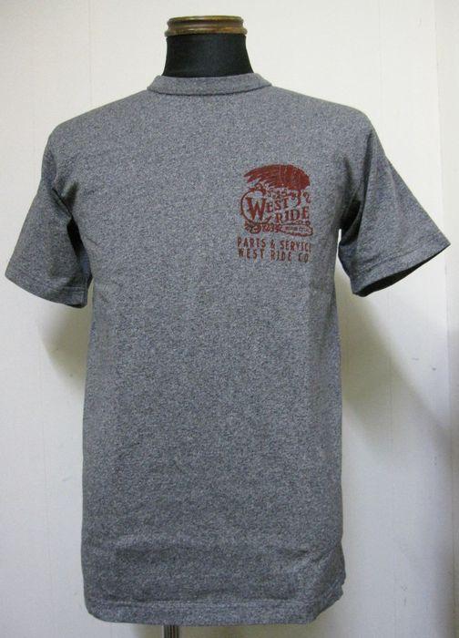 画像1: ウエストライド(WESTRIDE) 16-11 インディアンヘッド半袖Tシャツ- GRY