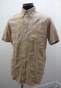スラップショット(Slapshot) パッチワーク・ボタンダウン半袖シャツ - Beige