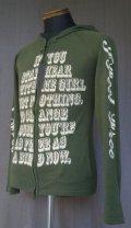 Burden Cotton Thin Knit Zip Parka - Green