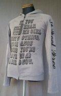 Burden Cotton Thin Knit Zip Parka - Gray