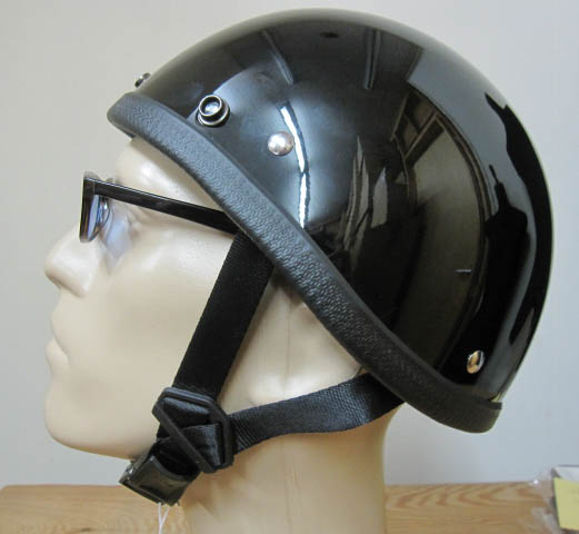 画像1: JACKSUN'S(ジャックサンズ)SMOKEY NOBELTY HELMET-HI GLOSS BLACK