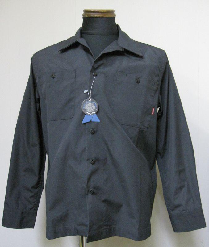 画像1: BLUCOブルコ  OL-109 STANDERD WORK SHIRTS L/S ワークシャツ -GRAY