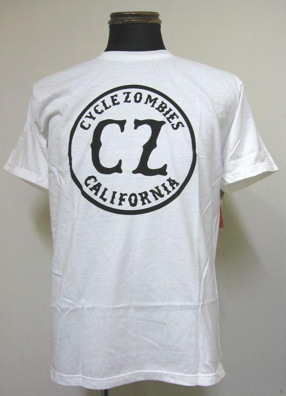 画像1: CycleZombiesサイクルゾンビーズCALIFORNIA S/S T-SHIRT 半袖TEEシャツ-WHITE