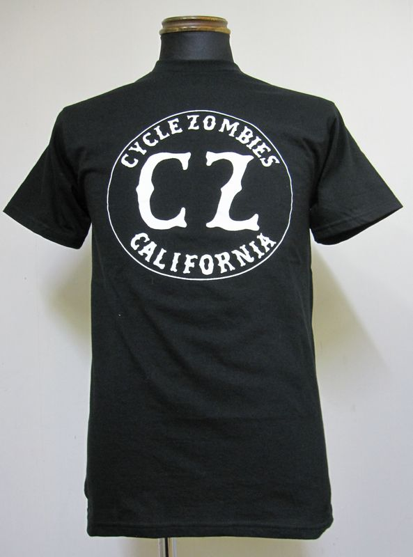 画像1: CycleZombiesサイクルゾンビーズCALIFORNIA S/S T-SHIRT 半袖TEEシャツ-BLACK