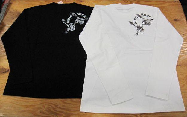 画像1: ウイングロック(Wingrock) インディアン・プリント長袖LONGSLEEVE TEEシャツ