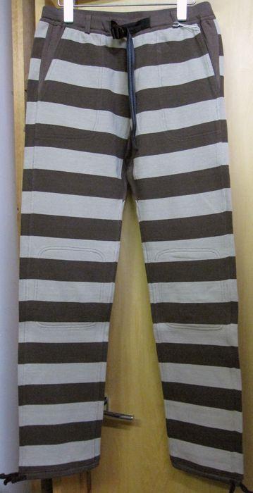 画像1: ウエストライド(WESTRIDE) BORDER LONG PANTS- BRN/SAND 【送料無料】