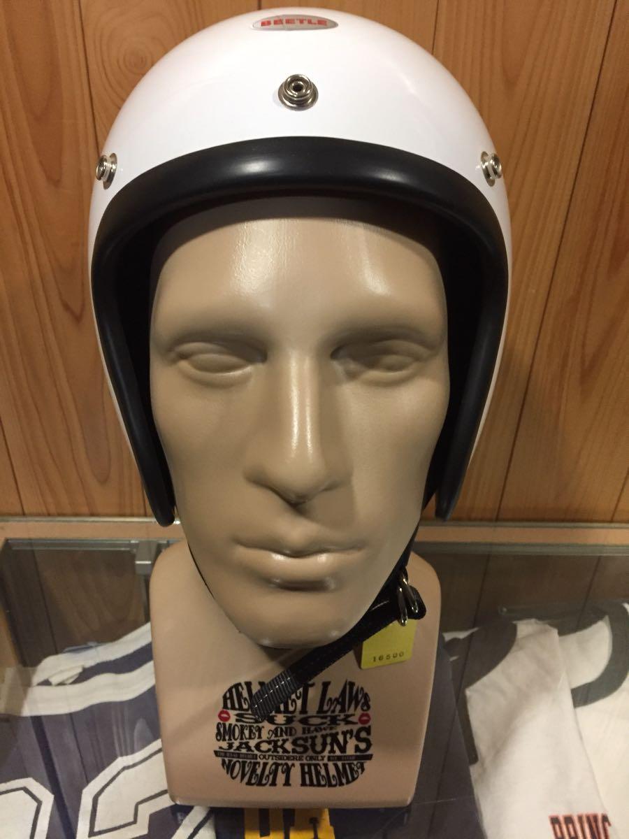 画像1: OCEAN BEETLE オーシャンビートル BEETLE L.A.C JET HELMET ジェットヘルメット (ホワイト)