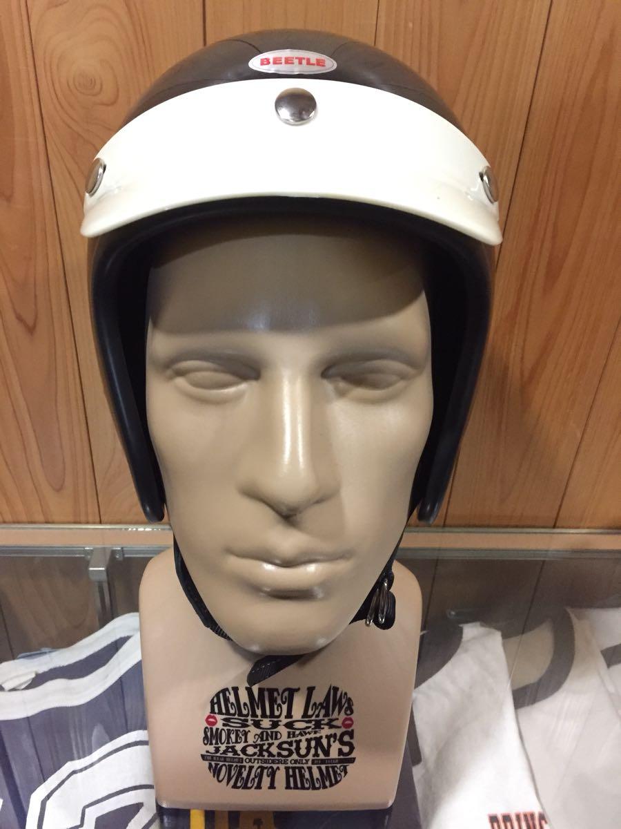 画像1: OCEAN BEETLE オーシャンビートル BEETLE L.A.C JET HELMET ジェットヘルメット (黒)